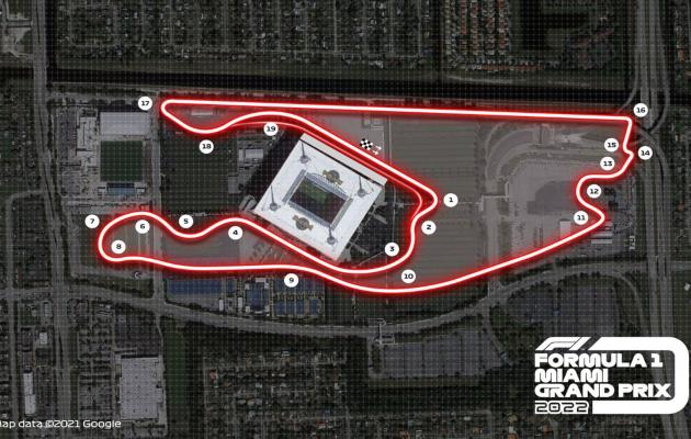 Circuito de Fórmula 1 en Miami
