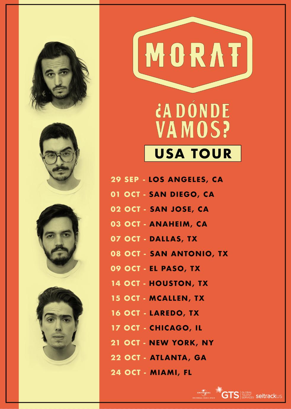 Morat tour Estados Unidos 2021